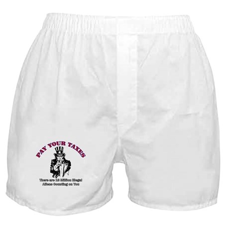 Pay Your Taxes Boxer Shorts