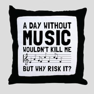 Risk It Music Throw Pillow