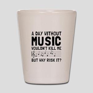 Risk It Music Shot Glass