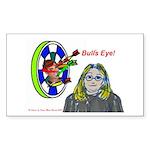 Bad Boss Bull's Eye Rectangle Sticker