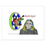 Bad Boss Bull's Eye Small Poster