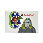 Bad Boss Bull's Eye Rectangle Magnet