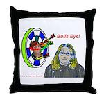 Bad Boss Bull's Eye Throw Pillow