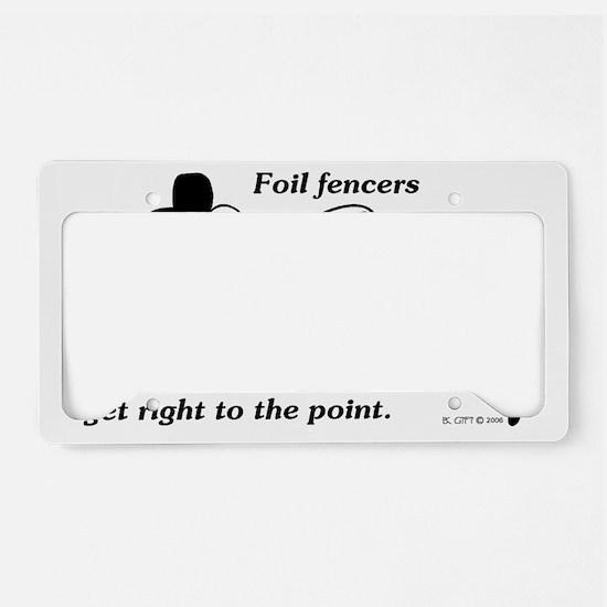 Foil Point License Plate Holder