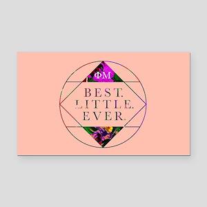 Phi Mu Best Little Rectangle Car Magnet