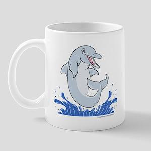The Happy Dolphin Jump Mug
