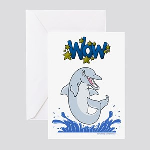 The Happy Dolphin Jump Greeting Cards (Package of