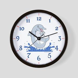 The Happy Dolphin Jump Wall Clock