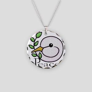 Peace Dove Necklace Circle Charm