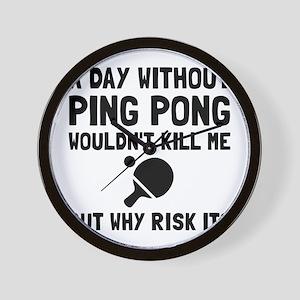 Risk It Ping Pong Wall Clock