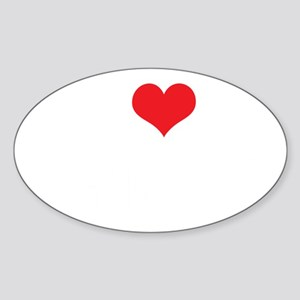 ILoveVeganBoys_2Lines_White Sticker (Oval)