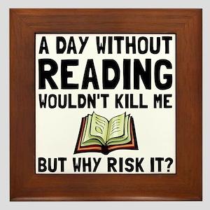 Risk It Reading Framed Tile