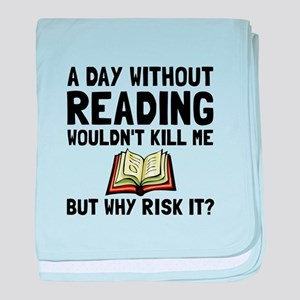 Risk It Reading baby blanket