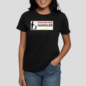 Working Dog Handler, Women's Dark T-Shirt