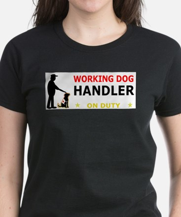 Working Dog Handler, Women's Dark T-Shirt