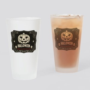 Funny Halloween Drinking Glass