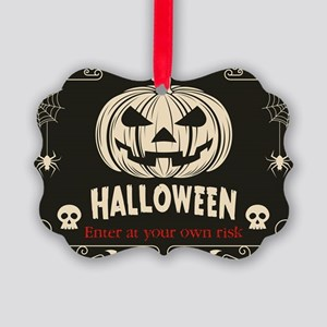 Funny Halloween Picture Ornament