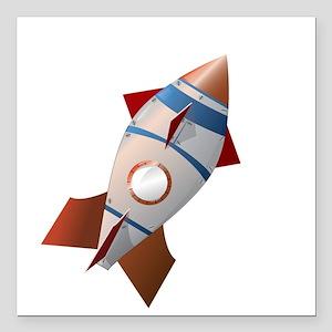 "oldShip_CLOUDS Square Car Magnet 3"" x 3"""