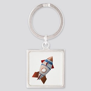 oldShip_CLOUDS Square Keychain