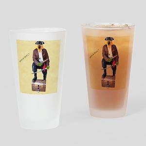 Brave Bully Black Beak Poster Drinking Glass