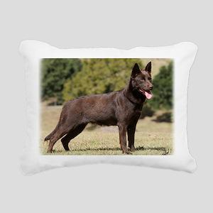 Australian Kelpie 9Y641D Rectangular Canvas Pillow