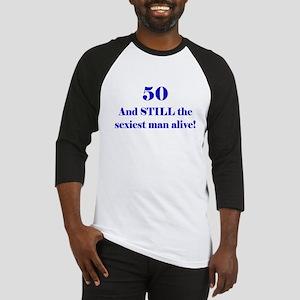 50 Still Sexiest 1 Blue Baseball Jersey