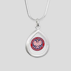 Poletown Michigan Polish Silver Teardrop Necklace