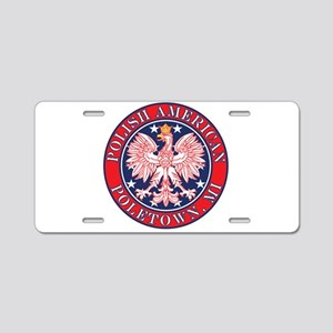 Poletown Michigan Polish Aluminum License Plate