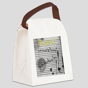 Unsocialized Homeschooler Canvas Lunch Bag
