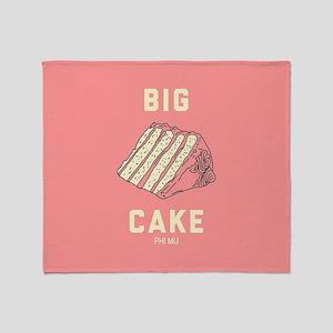 Phi Mu Big Cake Throw Blanket