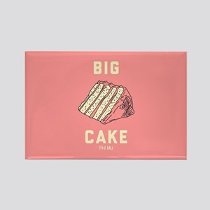 Phi Mu Big Cake Rectangle Magnet