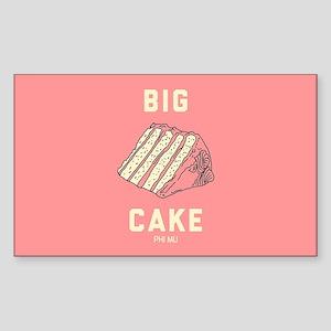 Phi Mu Big Cake Sticker (Rectangle)