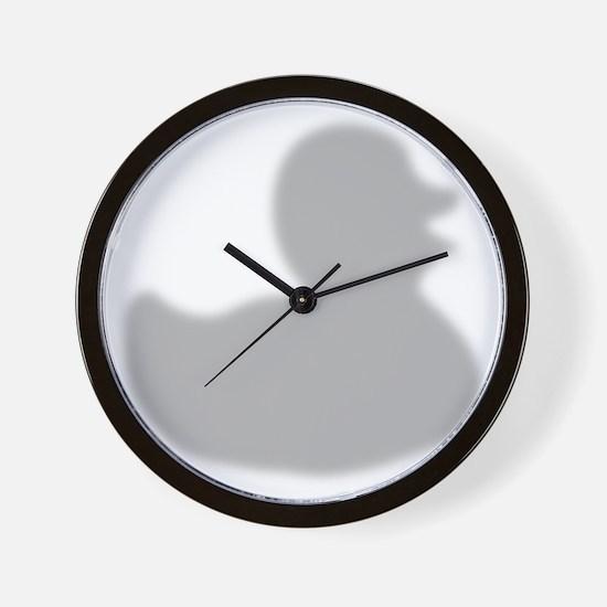 Rubber Duck silhouette Wall Clock