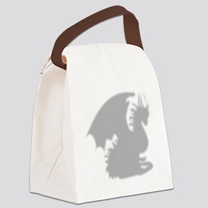 Dragon silhouette shower curtain Canvas Lunch Bag