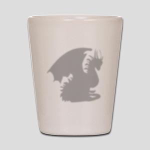 Dragon silhouette shower curtain Shot Glass