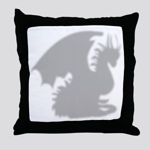 Dragon silhouette shower curtain Throw Pillow