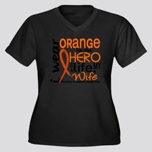 D Wife Women's Plus Size Dark V-Neck T-Shirt