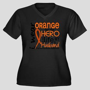 D Husband Women's Plus Size Dark V-Neck T-Shirt