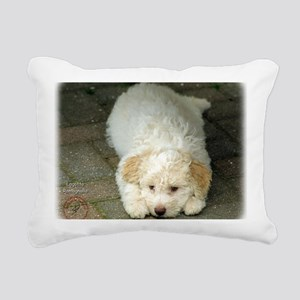 Lagotto Romagnollo 8T22D Rectangular Canvas Pillow