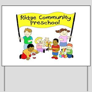 Ridge Community Preschool Yard Sign