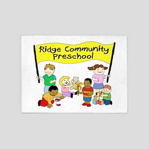 Ridge Community Preschool 5'x7'Area Rug