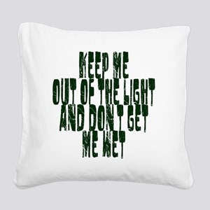 out of the light Square Canvas Pillow