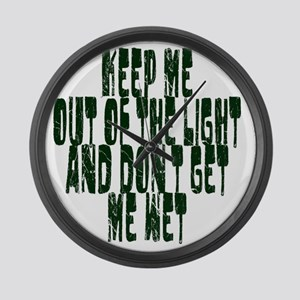 out of the light Large Wall Clock