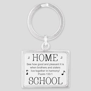 Psalm 133 Homeschool for light  Landscape Keychain