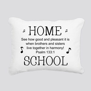 Psalm 133 Homeschool for Rectangular Canvas Pillow