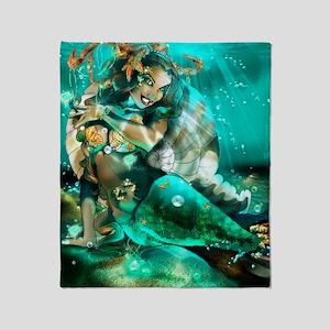my mermaid2 Throw Blanket