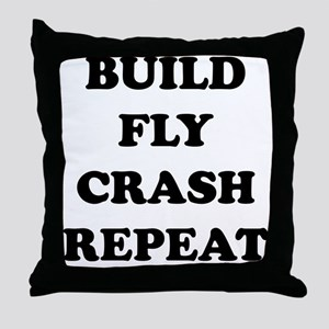 BuildFlyCrash10x10 Throw Pillow