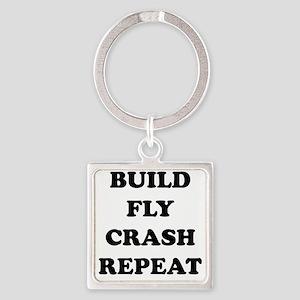 BuildFlyCrash10x10 Square Keychain
