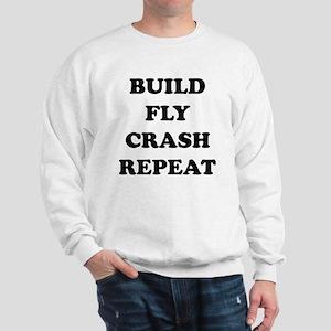 BuildFlyCrash10x10 Sweatshirt