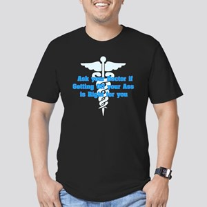 Ask Your Doctor Men's Fitted T-Shirt (dark)